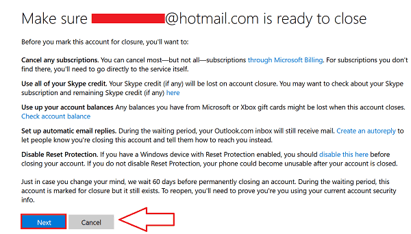 Delete Hotmail Account 2016