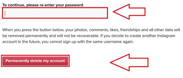 Permanently Delete Instagram
