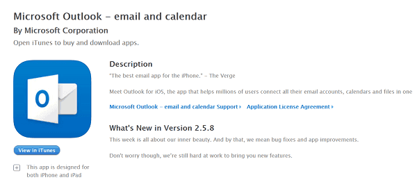 how to set up work outlook email on iphone