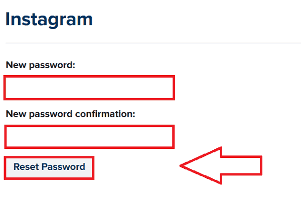 Instagram Reset using Facebook Account