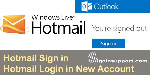 hotmail login account