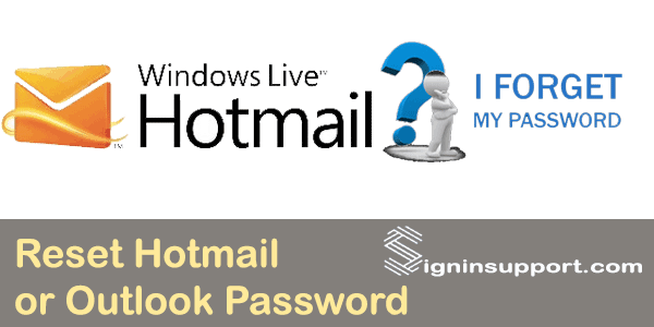 how to change your hotmail password without signing in