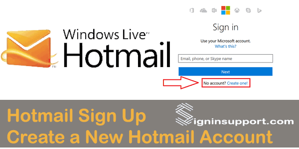 Hotmail Sign Up | Create a New Hotmail Account