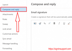 create outlook email signature