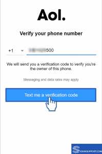 AOL Mail Sign Up Mobile verification