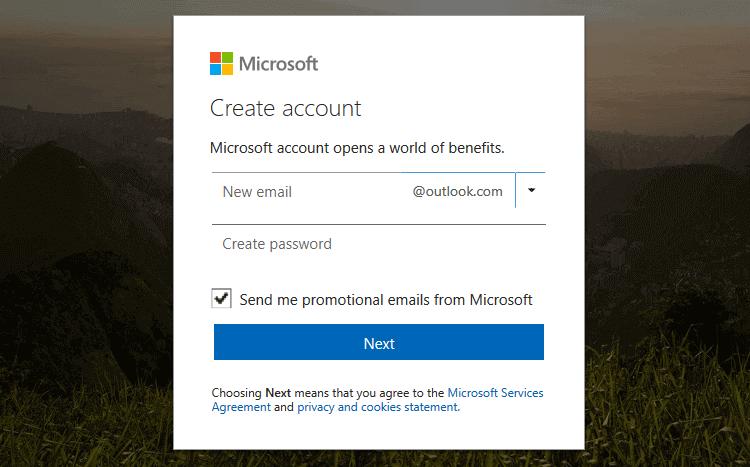 Create Hotmail Account