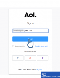 AOL Mail Change password