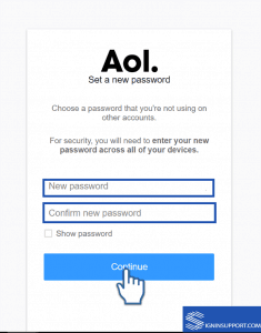 AOL new password