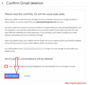 gmail delete permanently