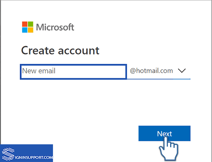 Account to login in hotmail can't log