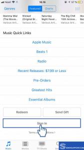 iTunes Store App login