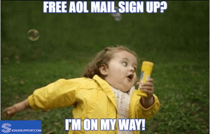 AOL Mail sign up Meme