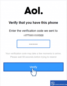 verify your mobile aol sign up